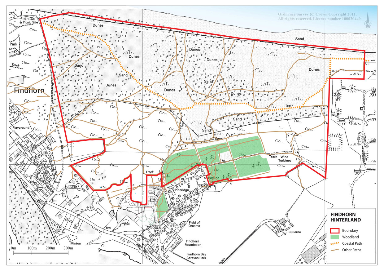 Findhorn Scotland Map.Findhorn Hinterland Vision Survey